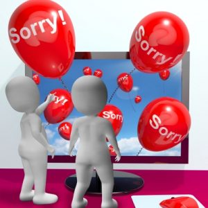 Computer Showing Online Apology Or Remorse by Stuart Miles